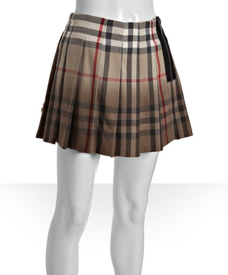 burberry new classic check wool blend pleated
