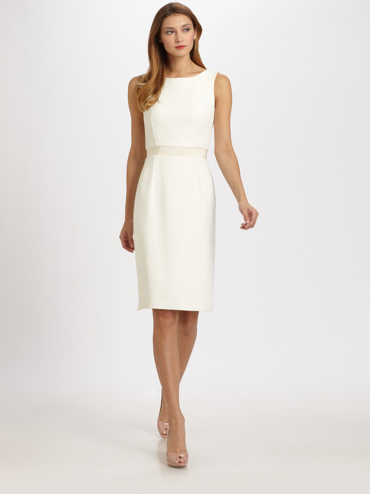 Dior Shantung Dress in White
