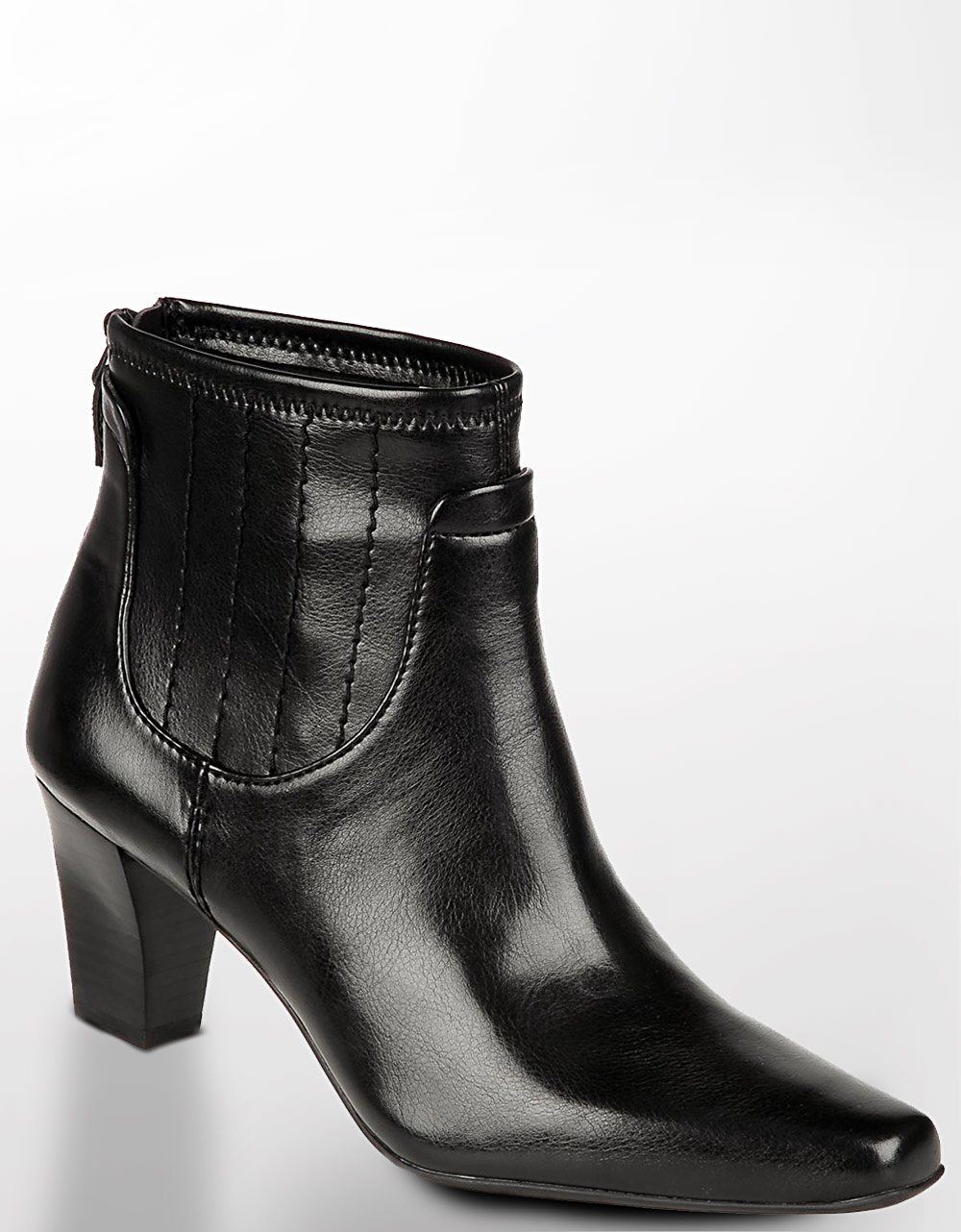 Franco Sarto Tempo Leather Booties In Black Black Leather