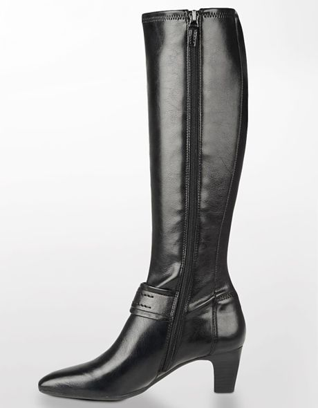franco sarto upton leather boots in black black