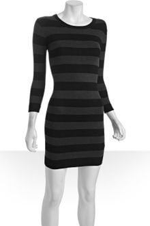Black  White Striped Dress on Sweater Dress Bambi Striped In White  Winter White Grey    Lyst