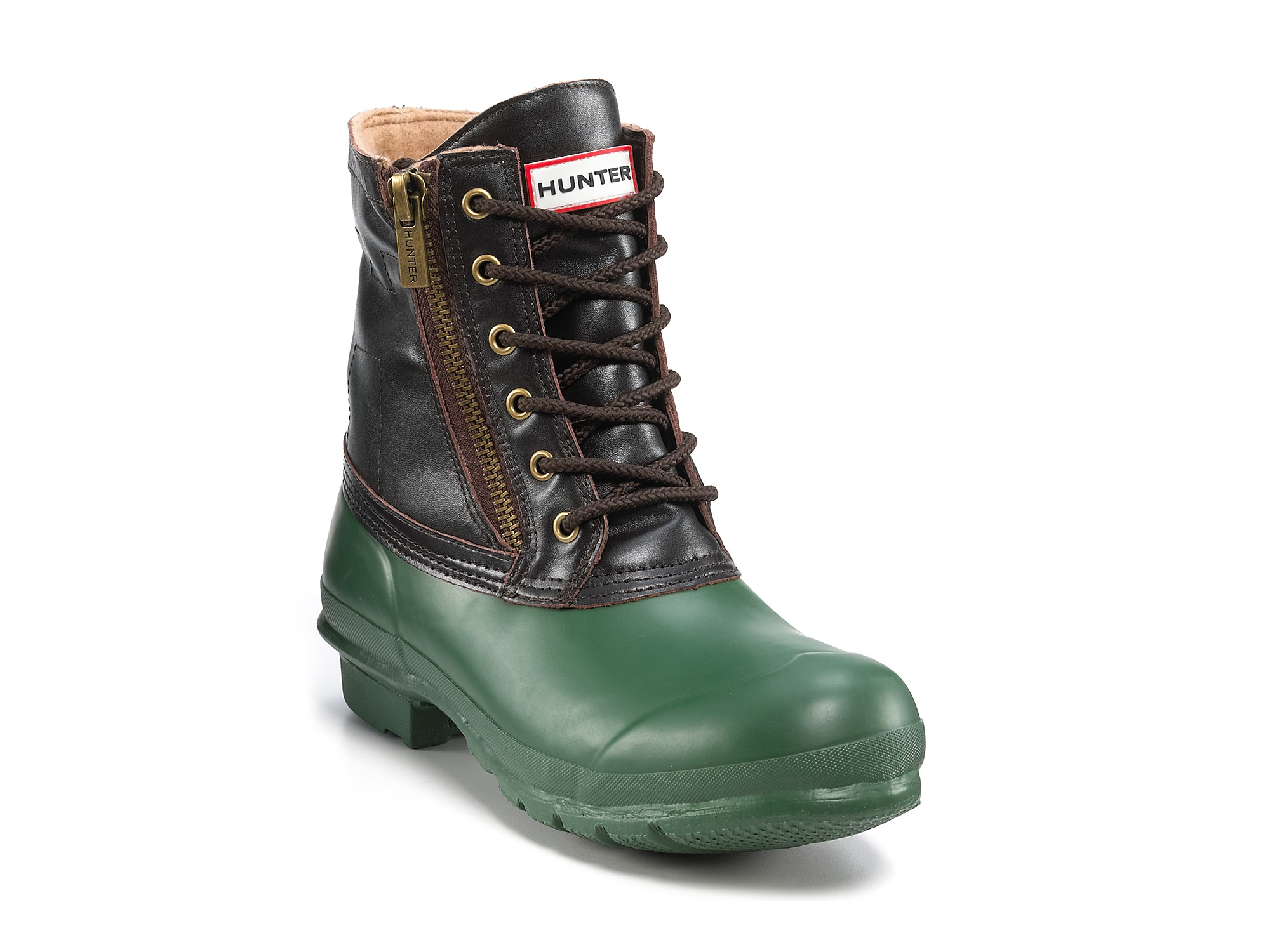 Lyst Hunter Kerrera Rubber Lace Up Boots In Green For Men