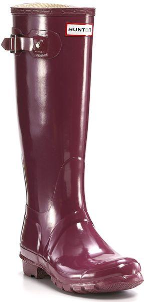 Original Classic Glossy Rain Boots - Very Berry in Purple (very berry
