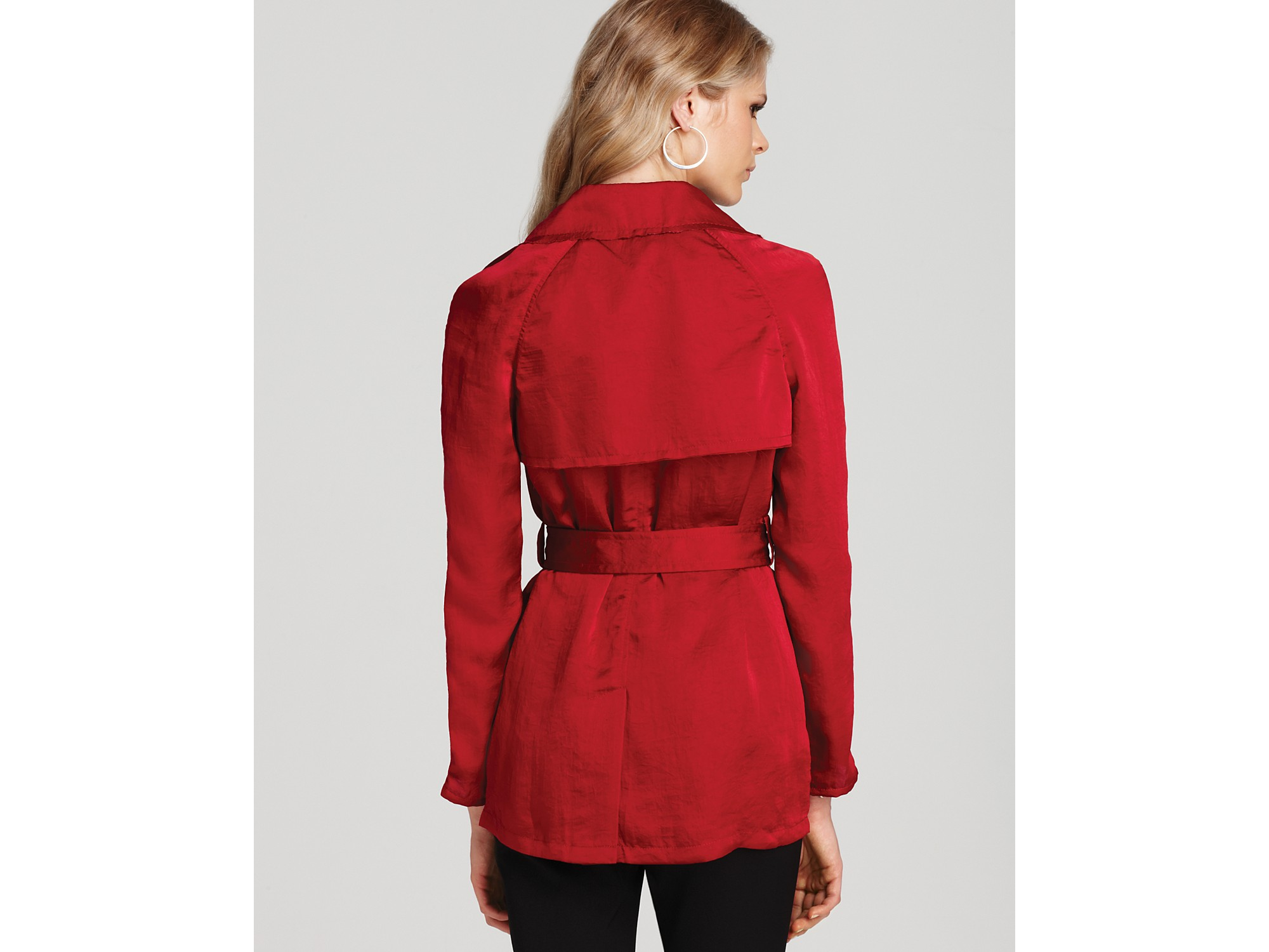 Michael kors Michael Short Trench Coat & More in Red   Lyst