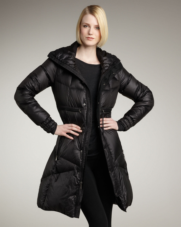 Rlx ralph lauren Long Puffer Jacket in Black | Lyst