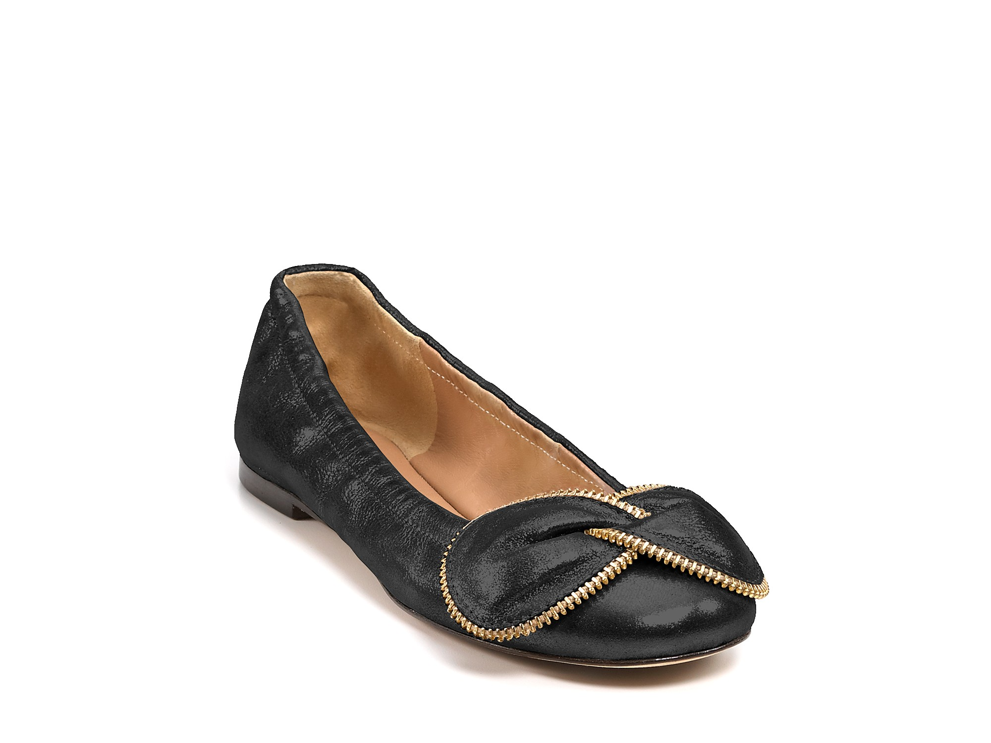 see by chlo ballet flats in black lyst. Black Bedroom Furniture Sets. Home Design Ideas