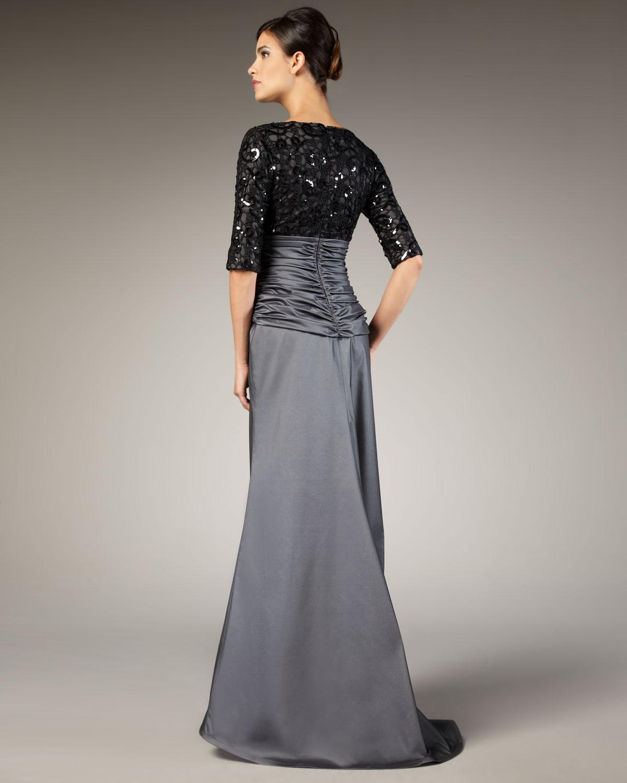 Tadashi Shoji Sequin Bodice Dress – fashion dresses