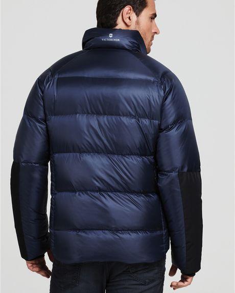 Victorinox Down Jacket In Blue For Men Navy Lyst