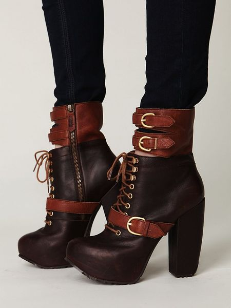 Free People Andee Platform Buckle Boot in Brown