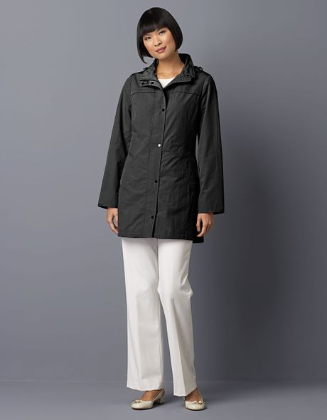 Jones New York Hooded Packable Walking Coat in Black - Lyst