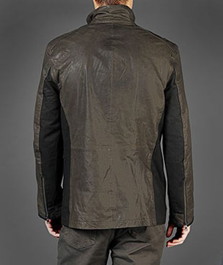 John Varvatos - steel gray | Guys leather jackets | Pinterest