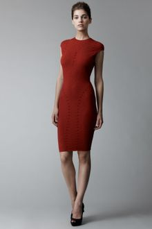 Alexander McQueen Patterned Knit Sheath Dress - Lyst