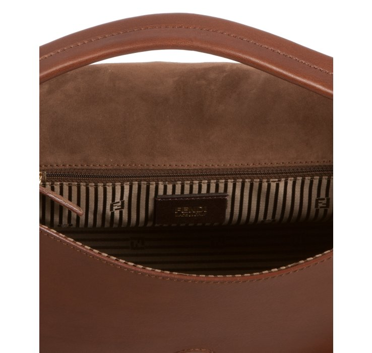 fb31eee2a3de fendi online outlet - Fendi Brown Leather Anna Small Shoulder Bag in Brown