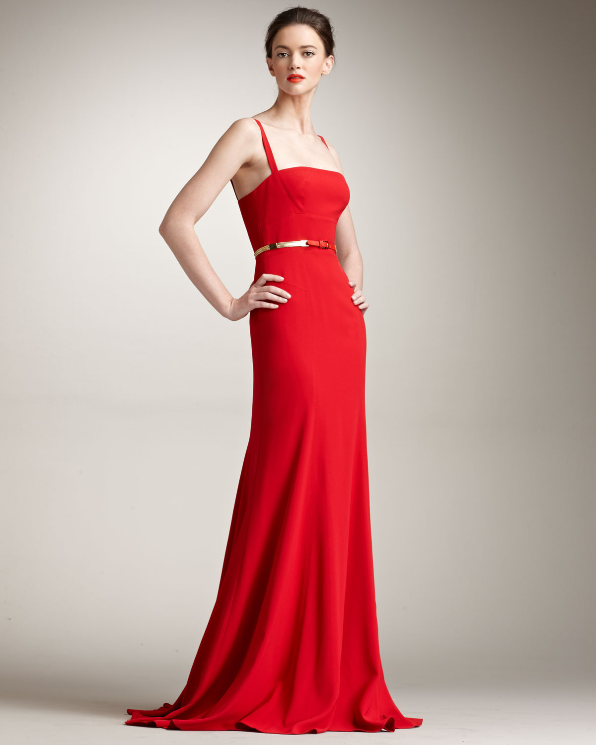 fitted red evening gowns - photo #33