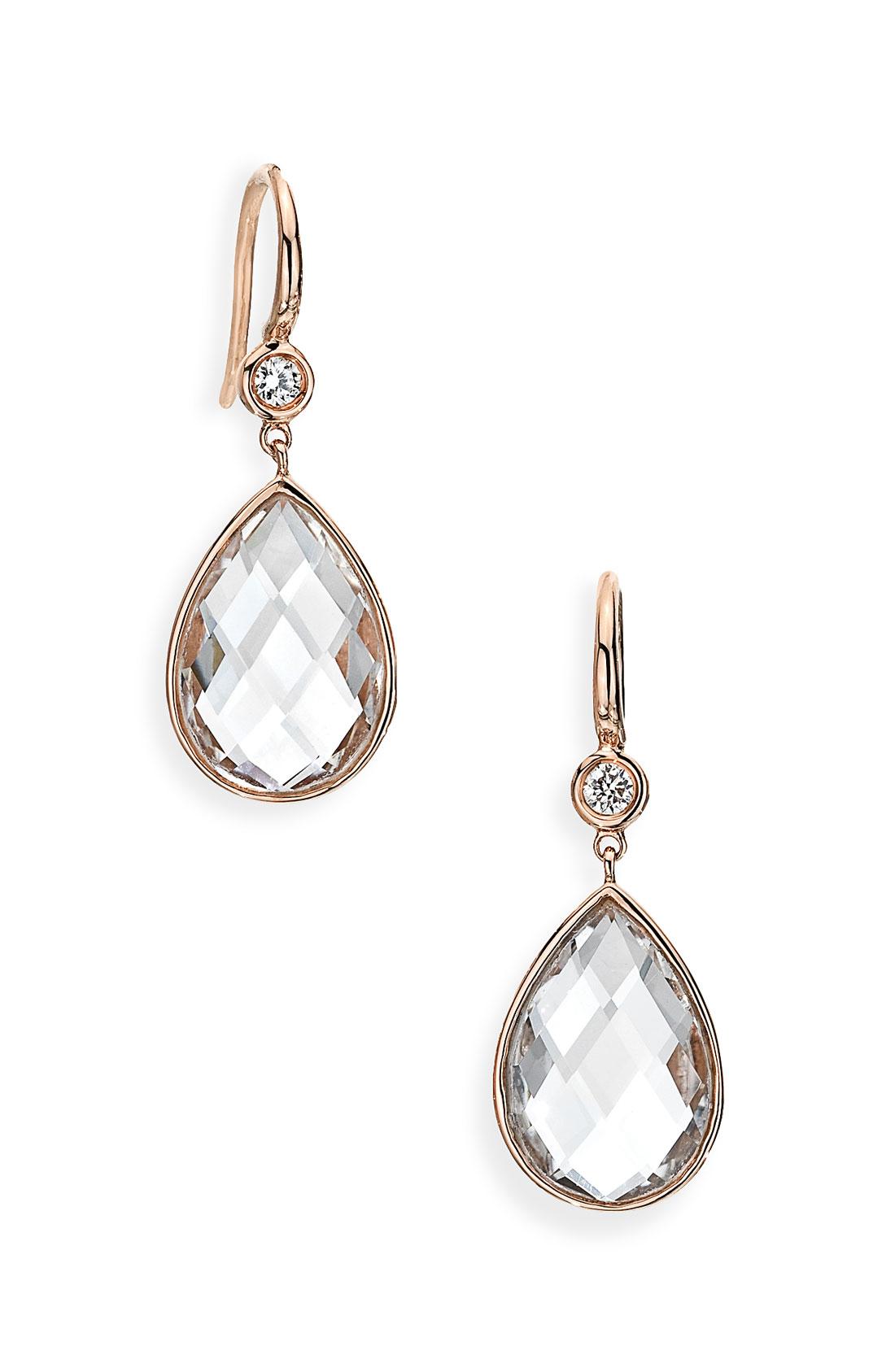 ivanka trump mixed cut diamond rock crystal drop