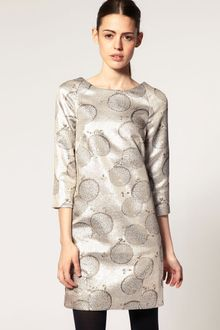 ASOS Collection Asos Shift Dress in Metallic - Lyst