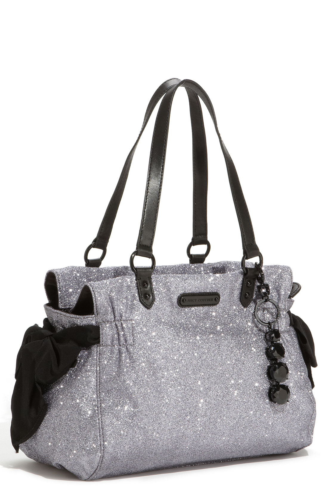 lyst juicy couture stardust glitter daydreamer tote in black. Black Bedroom Furniture Sets. Home Design Ideas
