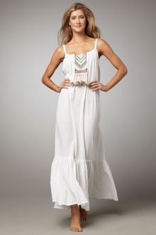 Mara Hoffman Embroidered Maxi Dress - Lyst
