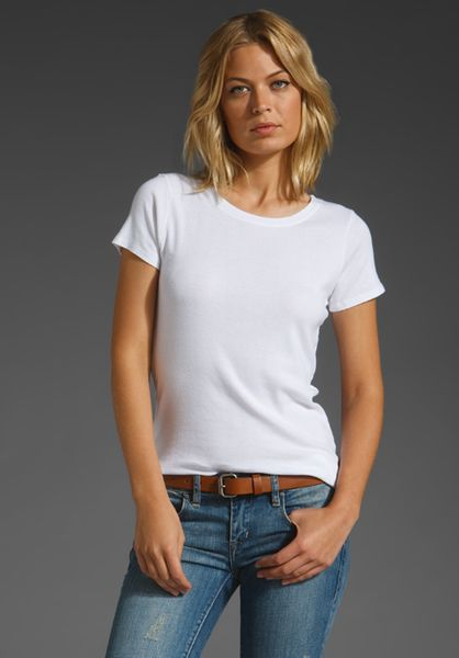 Michael Stars Supima Short Sleeve Crew in White