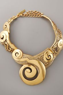 Oscar de la Renta Swirl Collar Necklace - Lyst