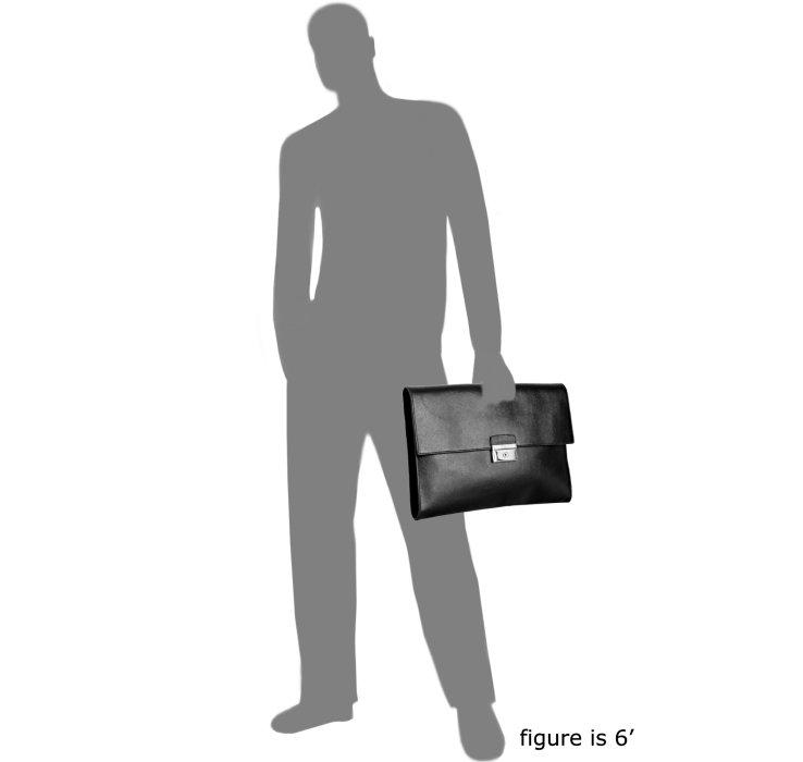 Prada Black Saffiano Leather Attach¨¦ in Black for Men   Lyst