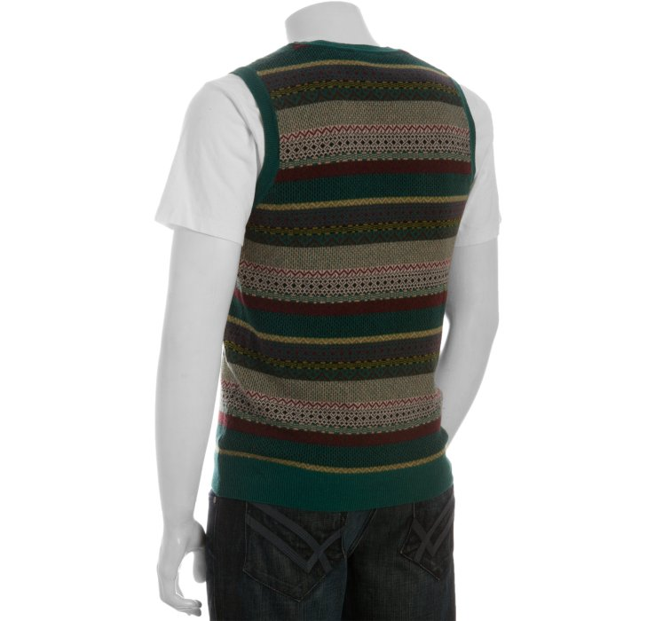 Paul smith Hunter Wool-cashmere Fair Isle Sweater Vest in Brown ...