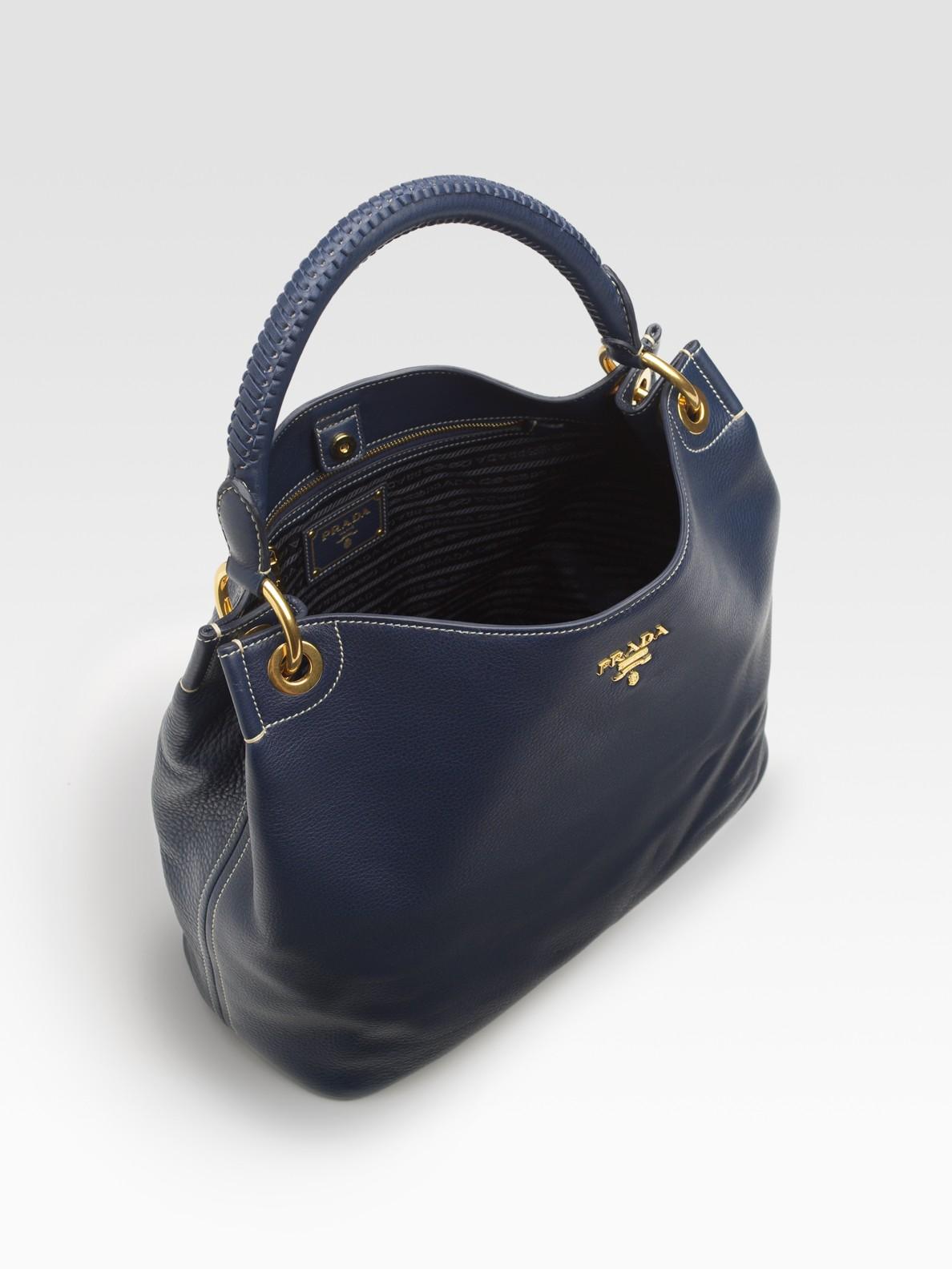 prada hobo bag blue