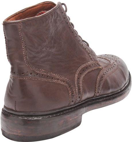 florsheim by duckie brown wingtip boot in brown for lyst
