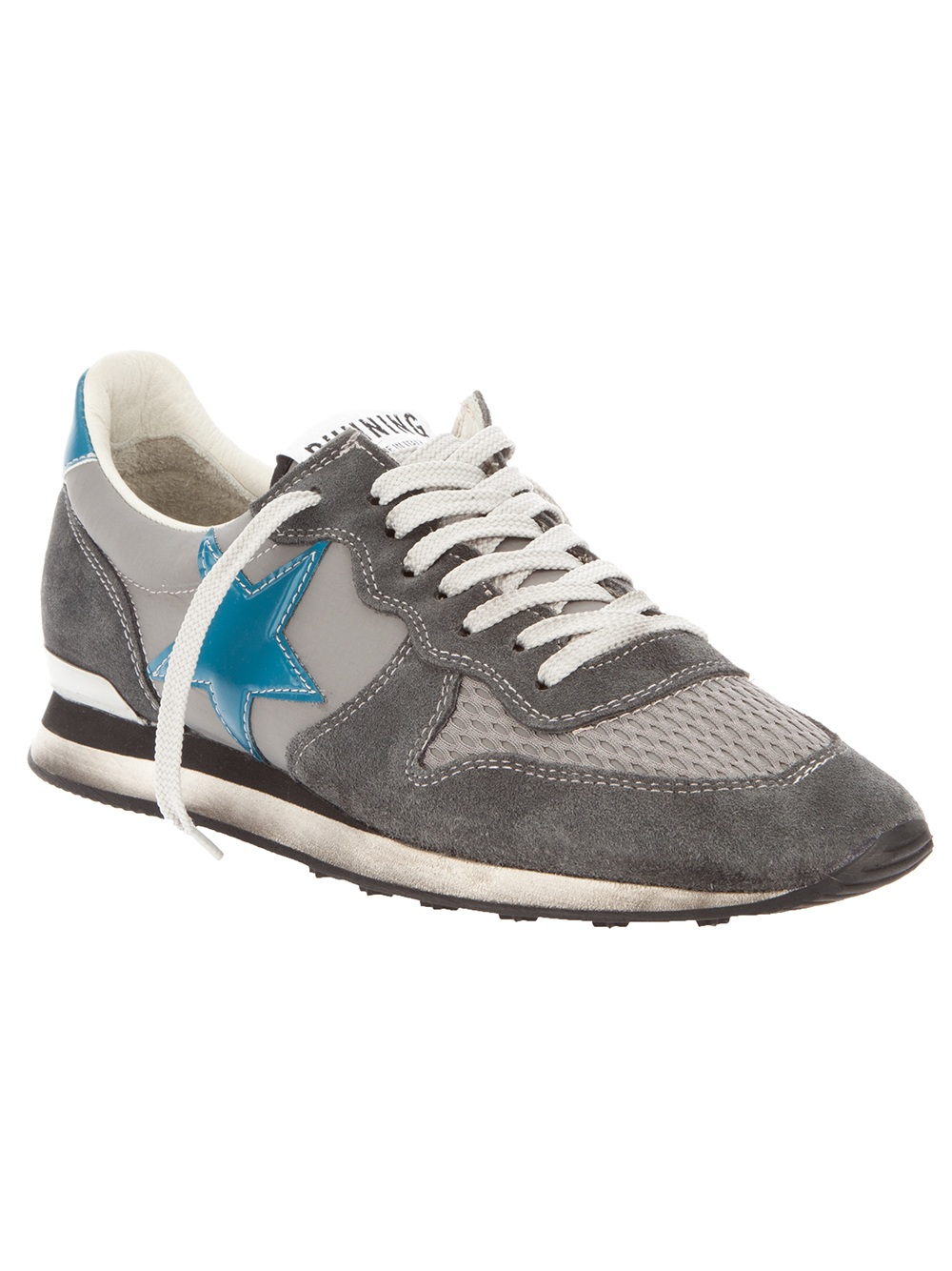 golden goose deluxe brand running sneaker in gray for men grey lyst. Black Bedroom Furniture Sets. Home Design Ideas