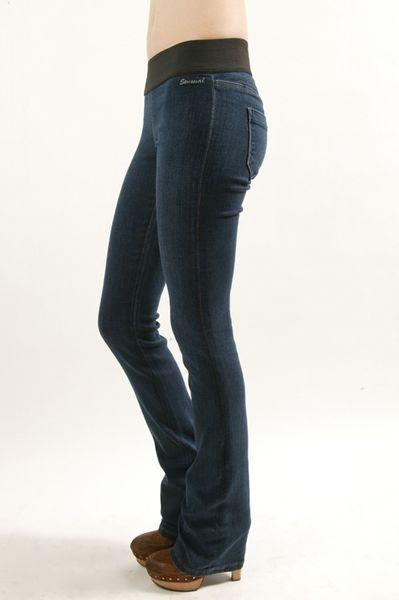 Goldsign Sensual Slim Boot Cut Leggings In Blue Lyst
