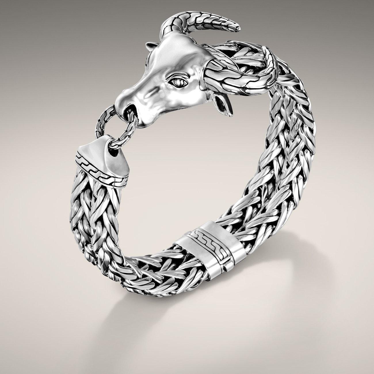 John Hardy Bull Head Bracelet In Silver For Men Bm90891