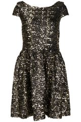 Topshop Gold Cluster Sequin Prom Dress By Dress Up