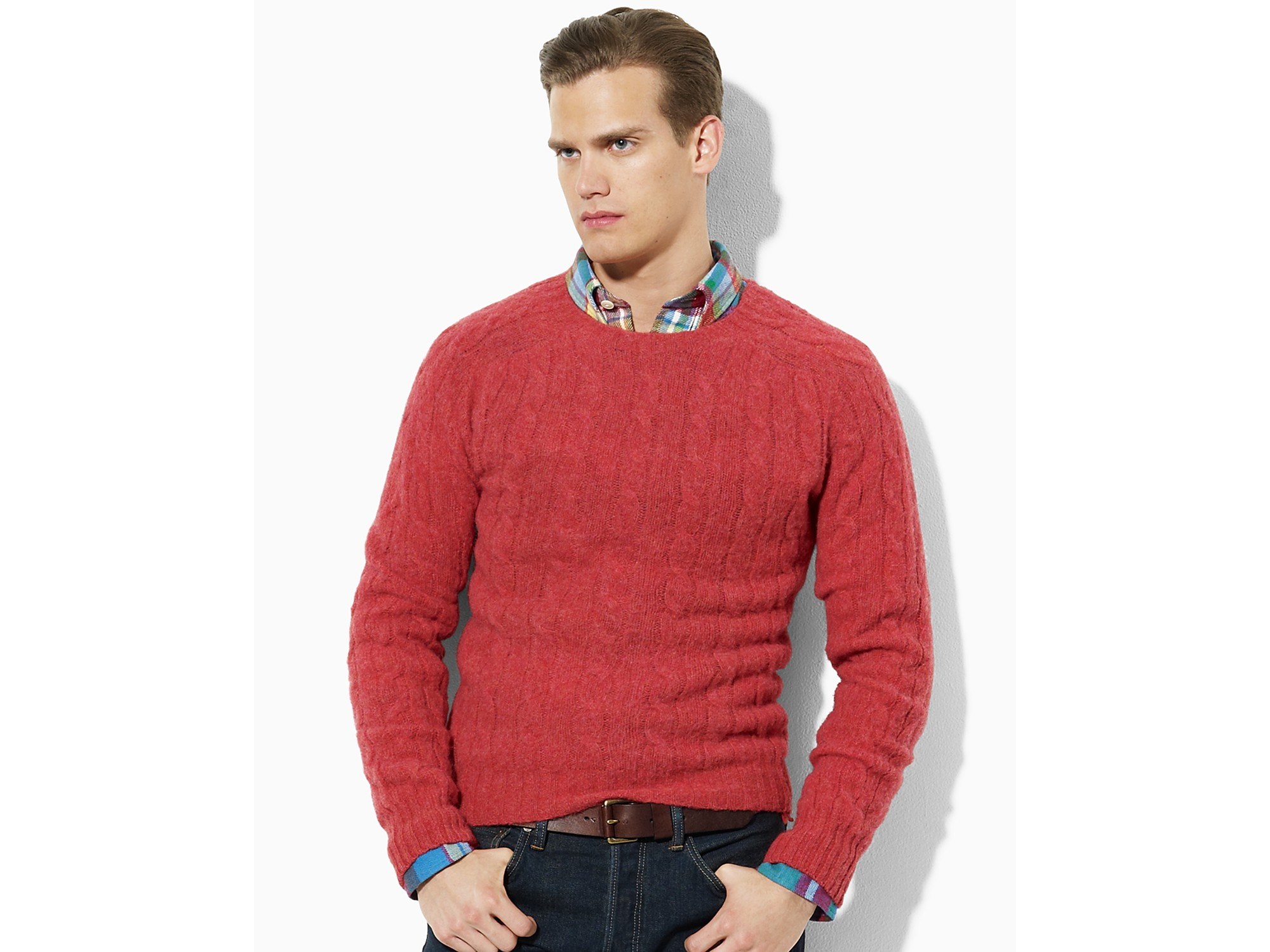 a7ea46b51a879 Lyst - Ash Polo Ralph Lauren Wool-cashmere Cable-knit Sweater in ...