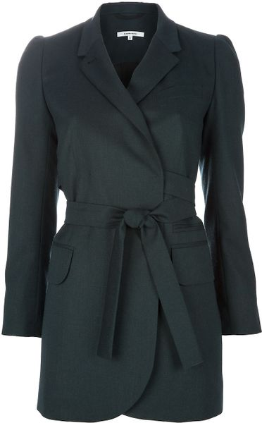 Carven Trenchcoat in Green - Lyst