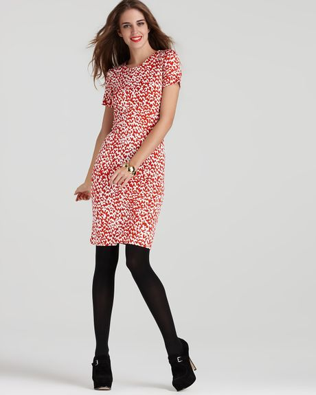 Dvf Reina Dress Red Diane Von Furstenberg Reina