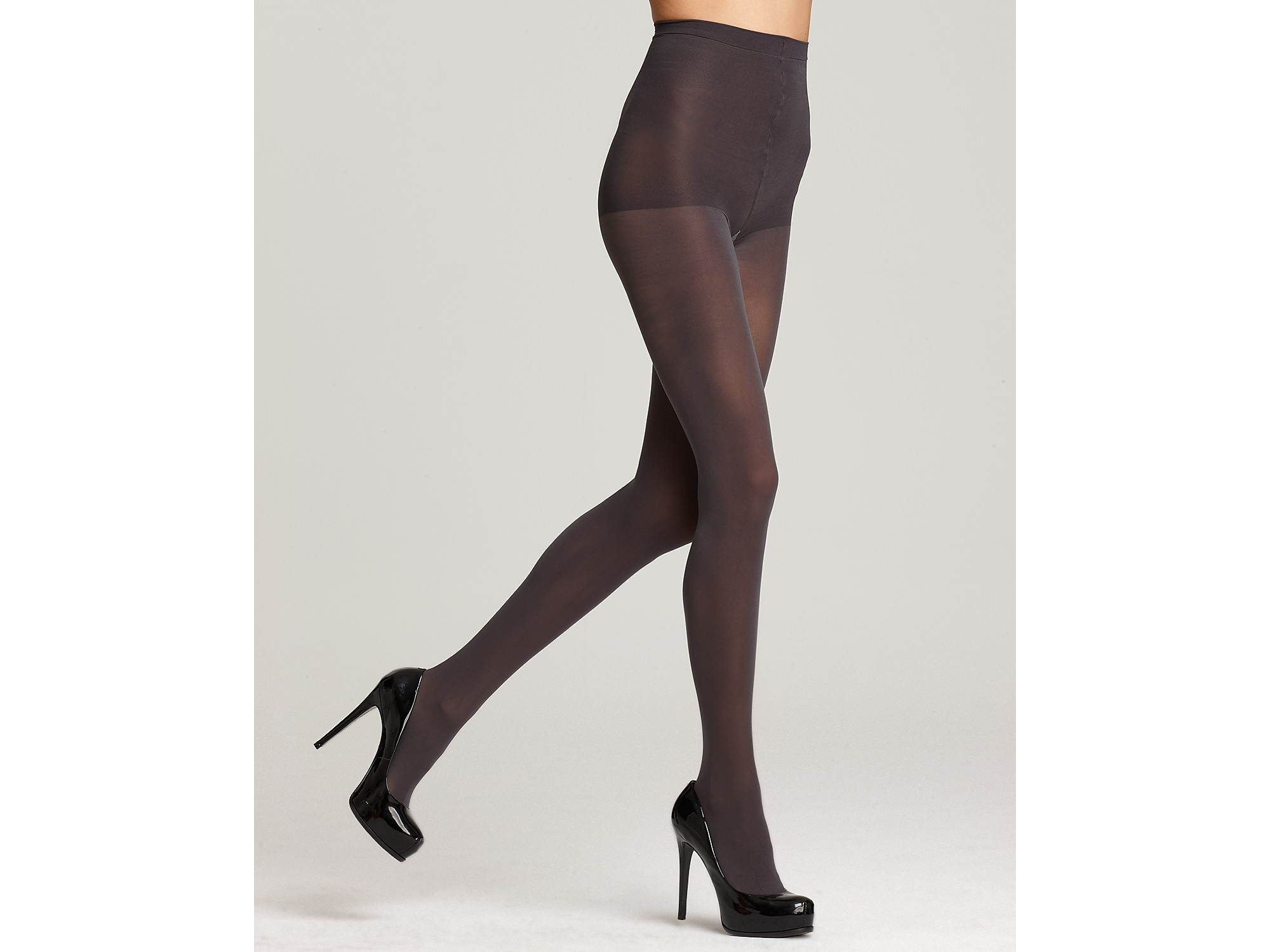 fb2796e64a9 DKNY Hosiery Basic Opaque Coverage Control Top Tights in Gray - Lyst