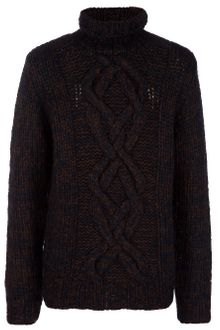 Dries Van Noten Cable Knit Turtleneck Jumper - Lyst