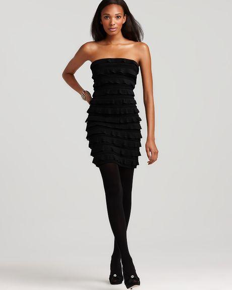 Elizabeth And James Vivienne Tiered Ruffle Strapless Dress