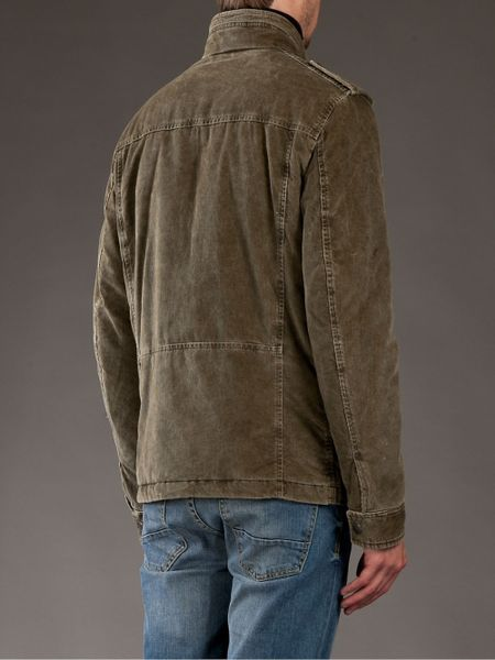 Fay Corduroy Jacket In Green For Men Olive Lyst