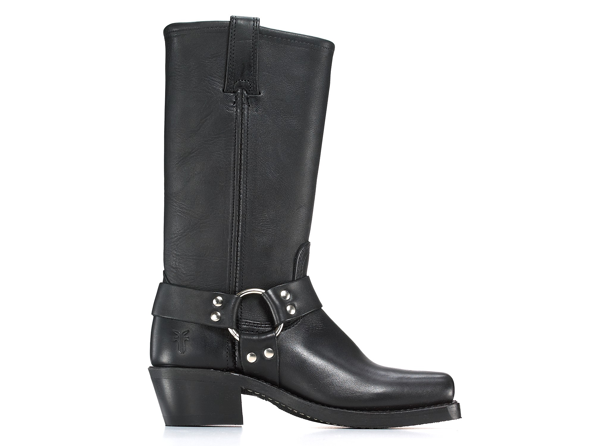 Frye Womens Harness 12r Leather Riding Boots In Black Tan