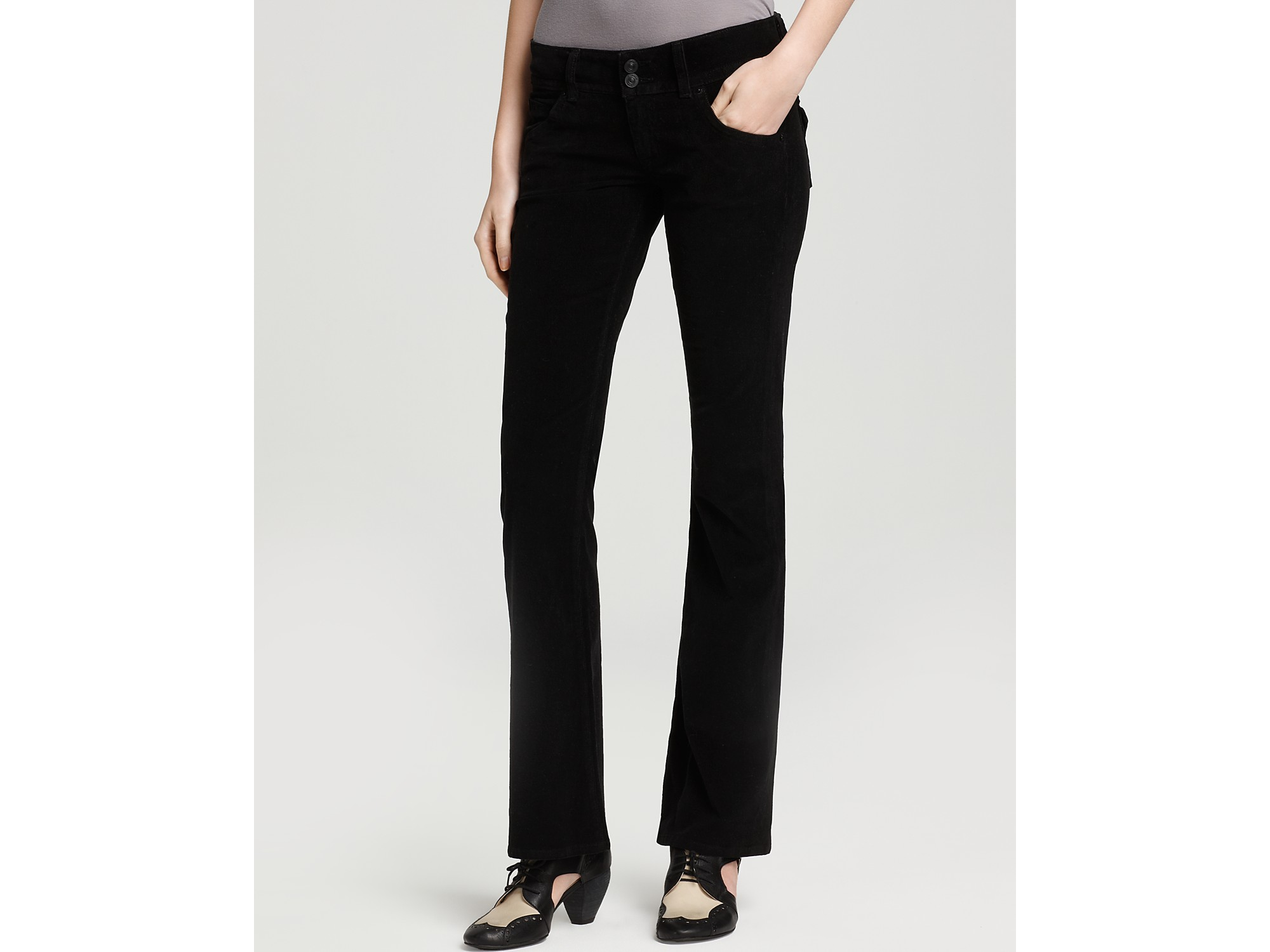 Hudson jeans Signature Bootcut Corduroy Pants in Black | Lyst