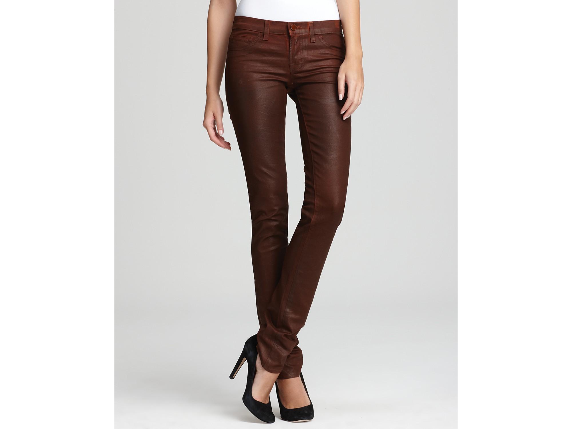 J brand brown skinny jeans