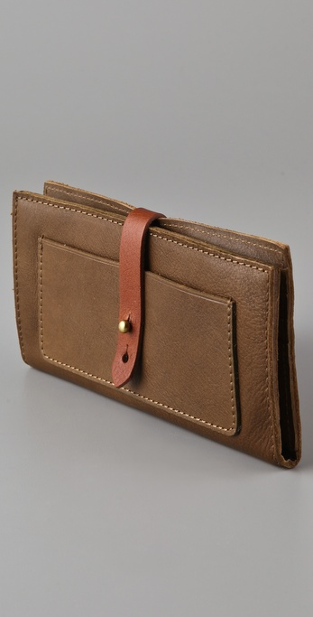 Lyst - Madewell Two Tone Checkbook Wallet in Natural 446ad66379ae3