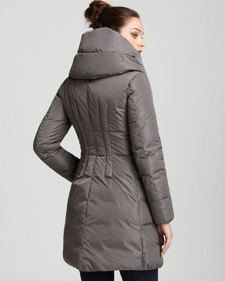 Moncler Pillow Collar Down Coat In Black Grey Lyst