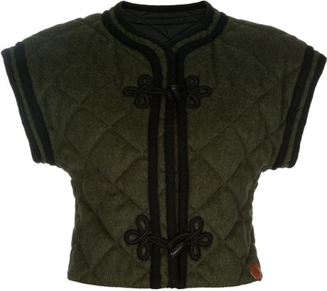 Valentino Vintage Quilted Gilet in Green - Lyst
