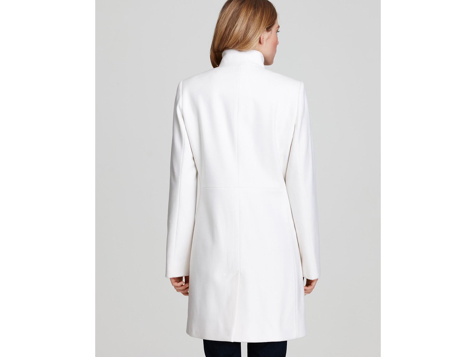 Winter white toggle coat