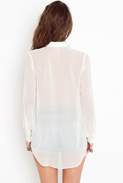 Women'S Blouses With Long Tail 73