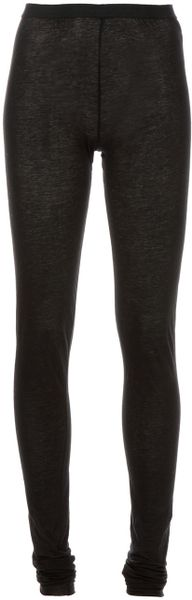 Drkshdw By Rick Owens Legging in Black - Lyst