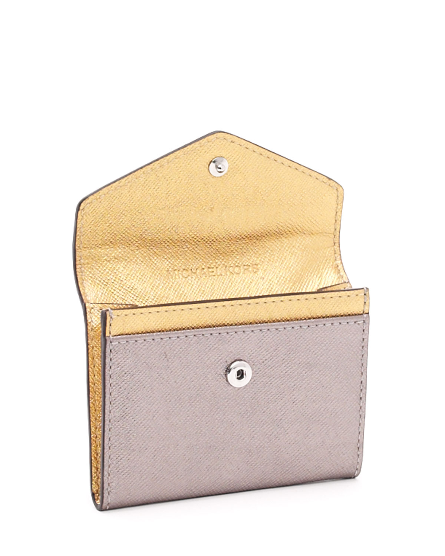 Lyst michael michael kors business card holder in metallic gallery colourmoves