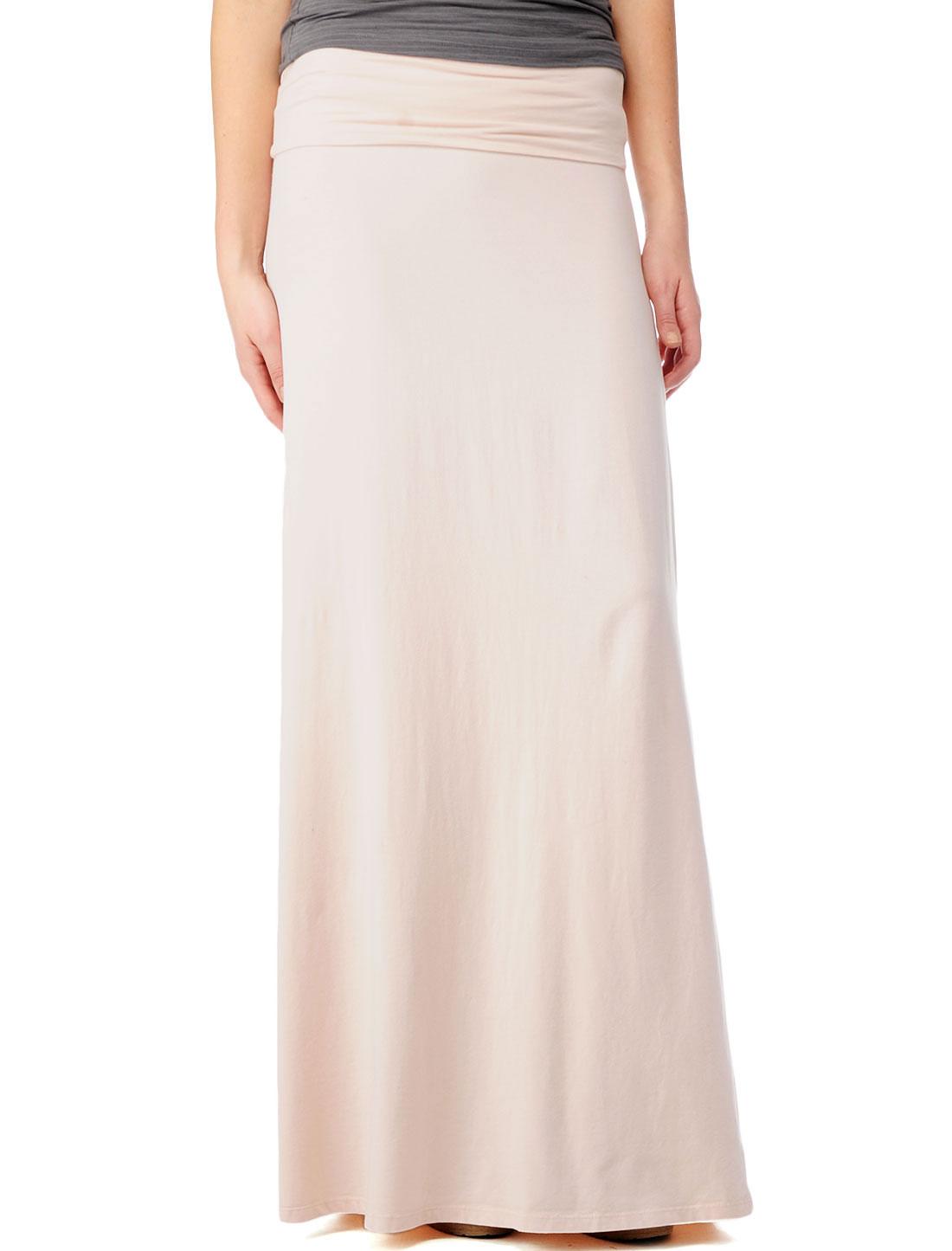 splendid modal lycra maxi skirt in pink blush lyst